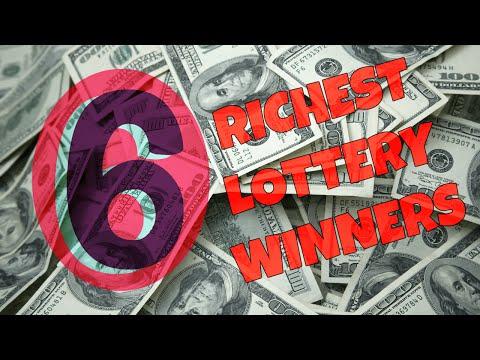 💵💵6 World's Richest Lottery Winners 💵💵