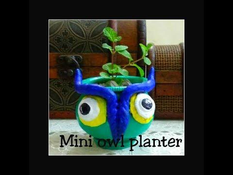 DIY Owl Planter | DIY Decorative Pots | clay art