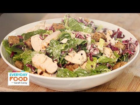 Buttermilk Chicken Caesar Salad Recipe - Everyday Food with Sarah Carey