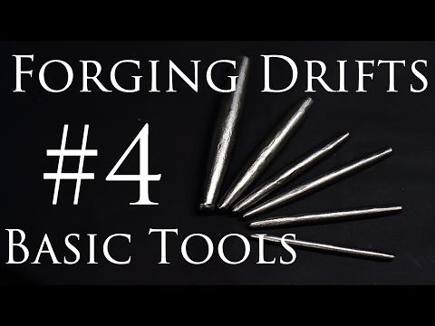 Blacksmithing Tools #4 - Hand  Forging Round Drifts (Mild Steel)