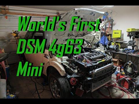 World's First Drive in DSM 4g63 Mini Cooper - AWD Mini Cooper Ep. 20