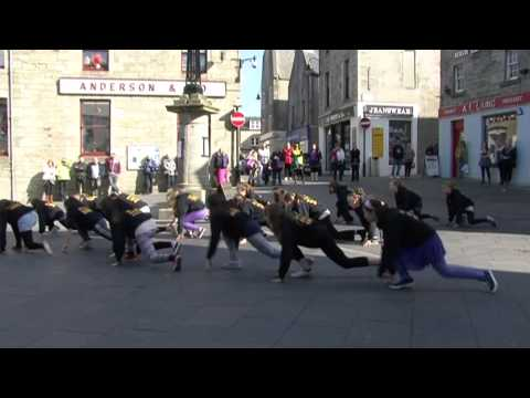 Pivot Dance Squad Flashmob - Market Cross, Lerwick - Saturday 13th April 2013
