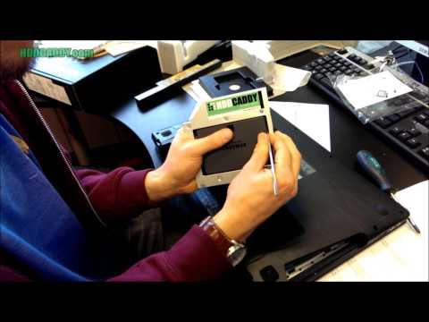 How-to Lenovo IdeaPad Y510p adding 2nd HDD / SSD using DVD / optical drive bay with HDD Caddy