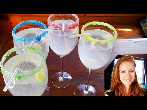 My idea How to make Lemon ice and decorate glass with colored sugar