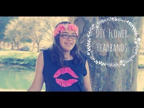 ♡DIY Flower Headband♡