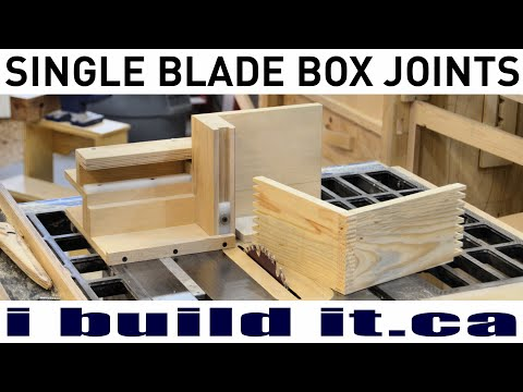 How To Make Box Joints With A Single Blade