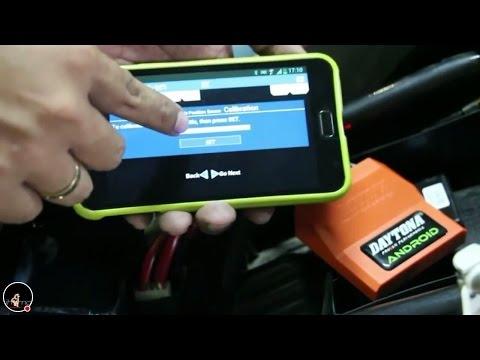 Cara Setting ECU Daytona Android on New Vixion NVL/FZ150i