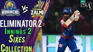 Karachi Kings Sixes   Karachi Kings Vs Peshawar Zalmi    Eliminator 2   21 March   HBL PSL 2018