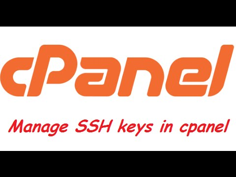 How to manage SSH keys in cpanel of web server
