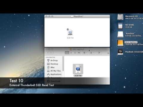 Thunderbolt vs USB 3.0 vs USB 2.0 vs SATA Speed Test SSD / HDD