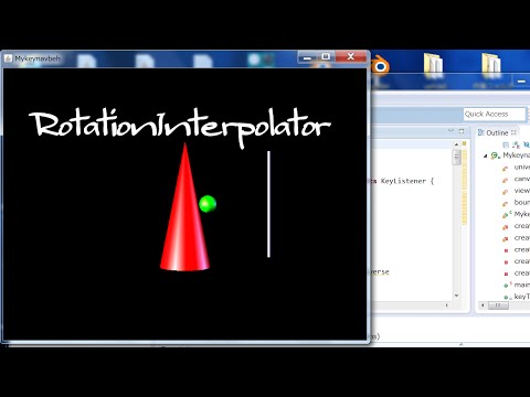 3D Models in Java 3D: Beginners Only_6 Using RotationInterpolator (with Source Code)