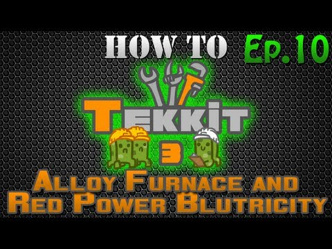 How to Tekkit - Alloy Furnace and Redpower Blutricity