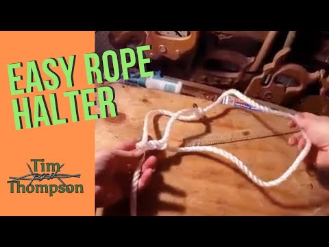 Rope Halter - How to tie a sheep or cattle halter