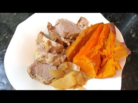 Instant Pot Apple Bourbon Pork Tenderloin & Sweet Potatoes: One Pot Easter Dinner Recipe