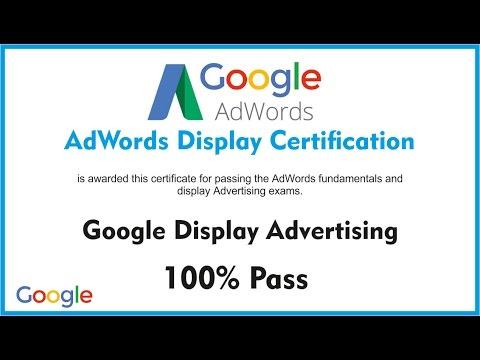 Latest Nov 2016, 100% Pass Exam-Google AdWords Display Certification- Live Exam Score 87/100