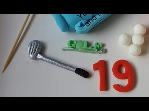 How to make edible golf clubs cake topper,sport,tutorial