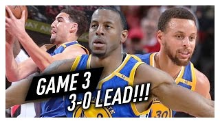 Stephen Curry, Klay Thompson & Andre Iguodala Game 3 Highlights vs Blazers 2017 Playoffs - EPIC!