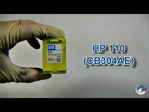 How to Refill HP 110 (CB304AE) Colour Ink Cartridge