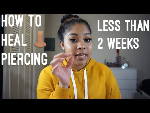 HOW TO: Heal Nose Piercing FAST