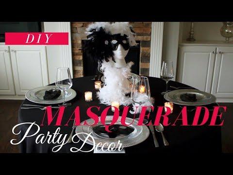 DIY MASQUERADE PARTY DECORATIONS | DIY MASQUERADE CENTERPIECE