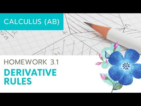 Calculus AB Homework 3.1 Derivative Rules