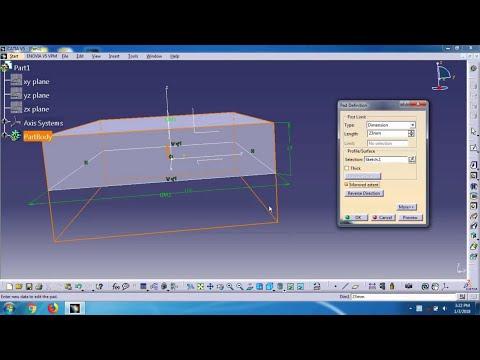 catia v5 tutorials-part design (pad command)