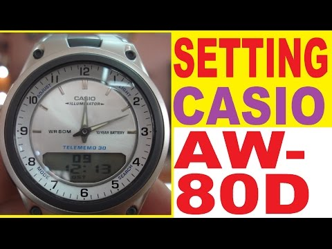 Setting Casio AW-80D-7A manual for use