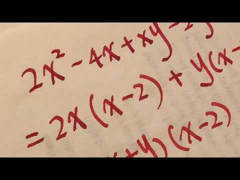 Algebra 2 - factoring polynomial asmr