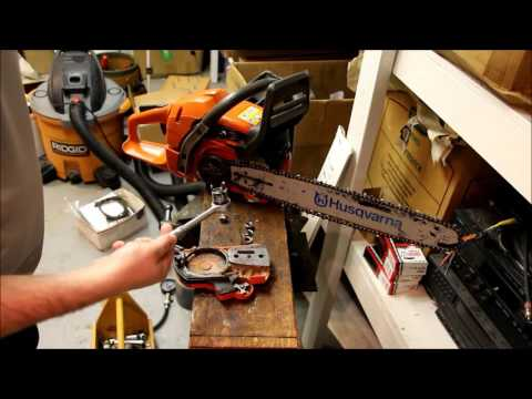 How to put your clutch cover back on your chainsaw AFTER the chainbrake got stuck