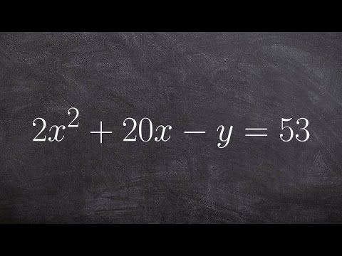 Completing the square to identify the vertex, focus and directrix of a parabola in conic