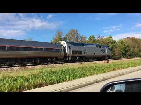 Amtrak 90 leaves Charleston, SC.