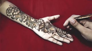 New Easy and Simple Floral Arabic Henna design for hands | Mehndi designs Step By Step Tutorial 3
