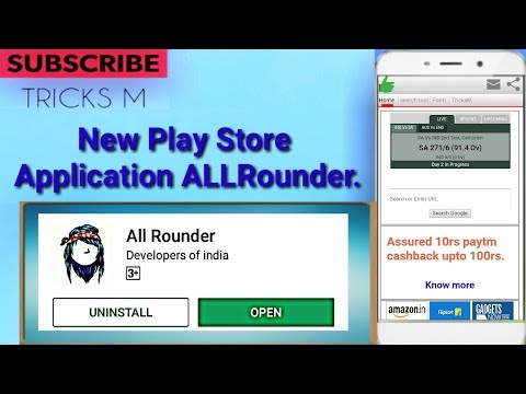 New play store application ALLRounder ,Shop & Earn #TricksM