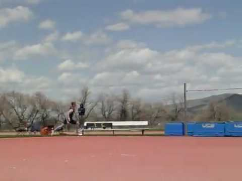 high jump Silcock jumps 7 feet 5 inches (2.26 meters)