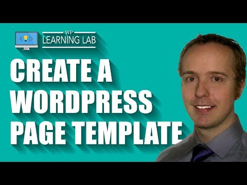 WordPress Page Template - Customized Stand-Alone Pages Without Custom Post Types