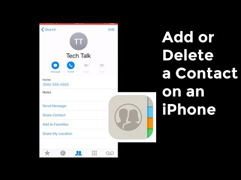 How To Add or Delete Contacts On an iPhone
