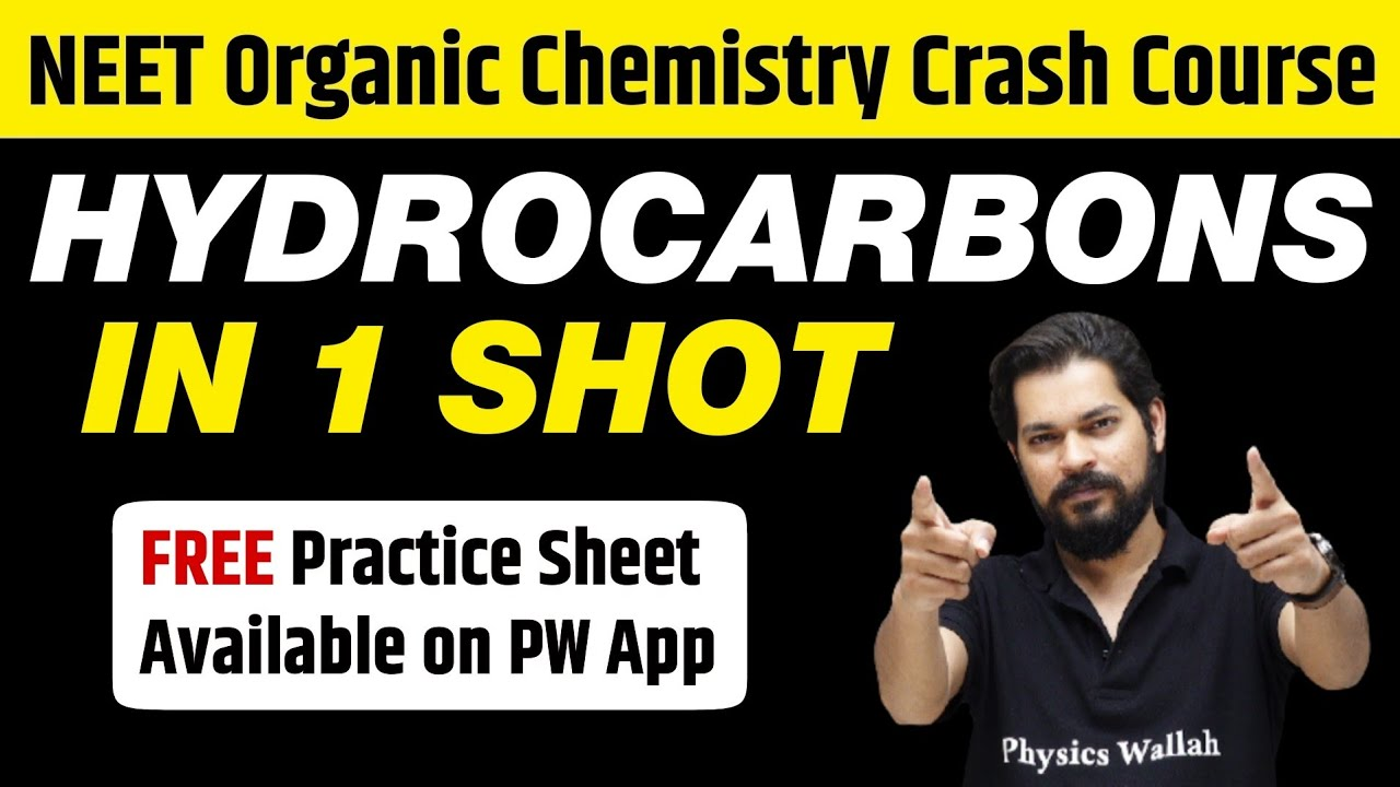 HYDROCARBONS in 1 Shot - All Concepts, Tricks & PYQs Covered   Class 11   NEET