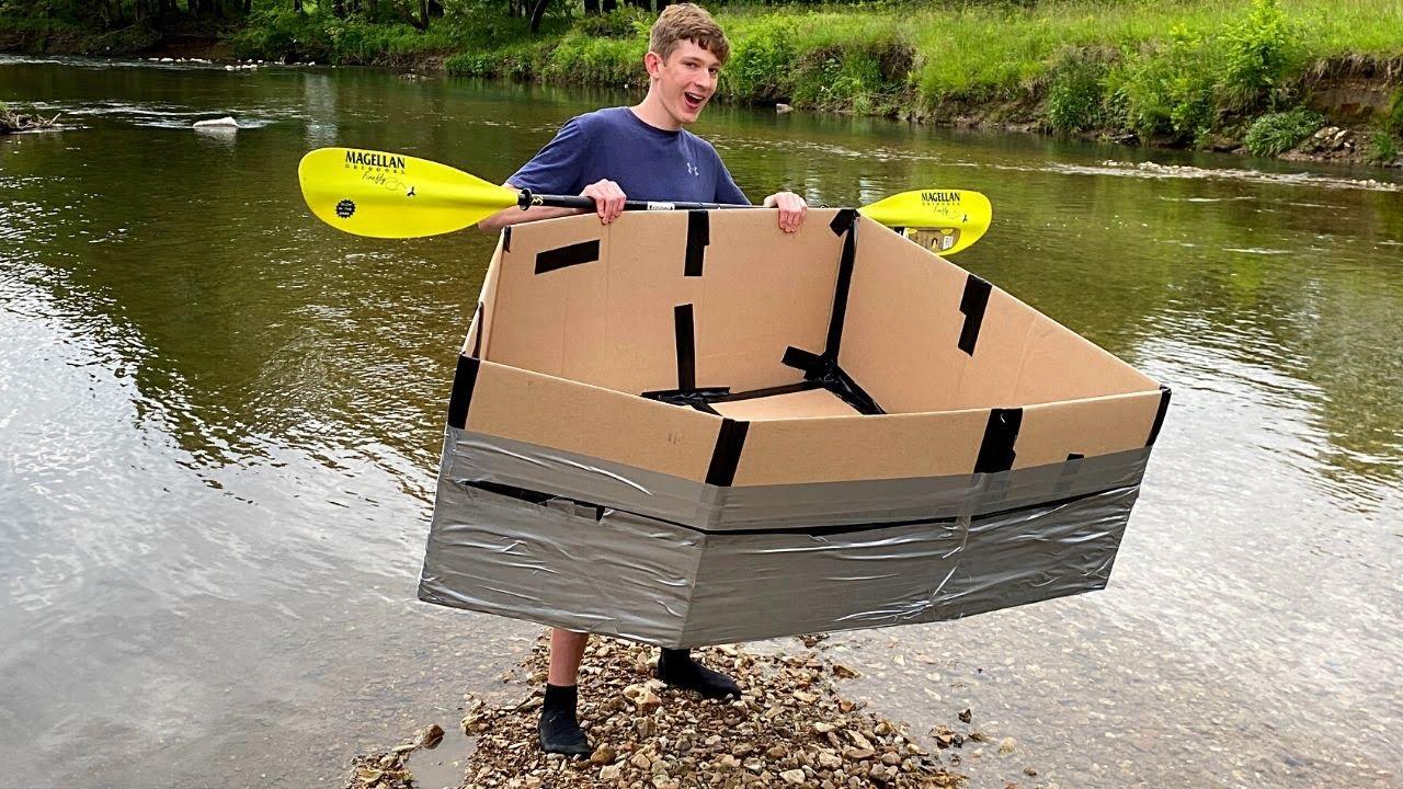 Sailing Down The Creek In A Cardboard Boat