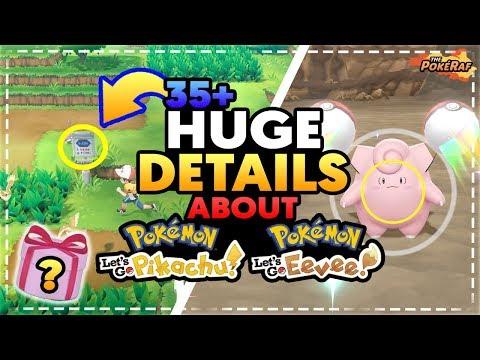 35+ HUGE DETAILS About Pokémon Let's Go Pikachu & Let's Go Eevee! NO JOHTO, GTS + MORE!
