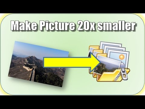 Make your Picture / Image / Photo 20x smaller for FREE
