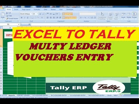 Excel to Tally - Multiple Ledger Voucher Entry