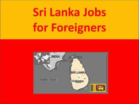 Sri Lanka Jobs for Foreigners