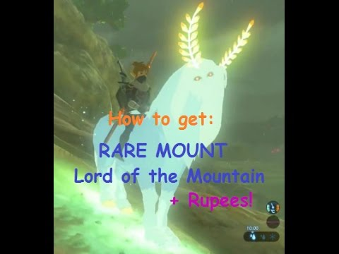 Breath of the Wild - How to get RARE MOUNT (Lord of the mountain) + make lots of Rupees!