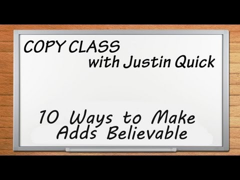 10 Ways to Make Ads Believable