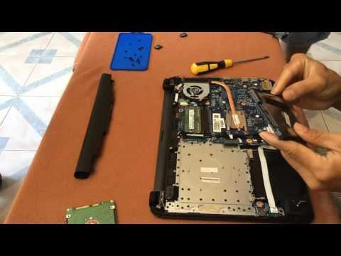 How to change HDD and up Ram for HP 240 G4 Notebook