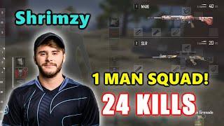 Soniqs Shrimzy - 24 KILLS - M416 + SLR - 1 MAN SQUAD! - PUBG