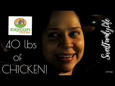 My first time ordering ZAYCON FRESH - 40 LBS OF CHICKEN! #SweetFamilyLife Family Vlogs
