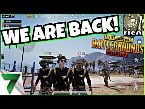 CUSTOM MATCHES! WE ARE BACK BABY!!   PUBG MOBILE