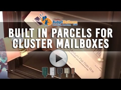 Florence Manufacturing | Built In Parcels for Cluster Mailboxes | Budget Mailboxes