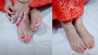 Indian anklet feet | Mallu beautiful anklet feet status | cute romatic status
